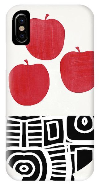 Fruit Bowl iPhone Case - Bowl Of Red Apples- Art By Linda Woods by Linda Woods
