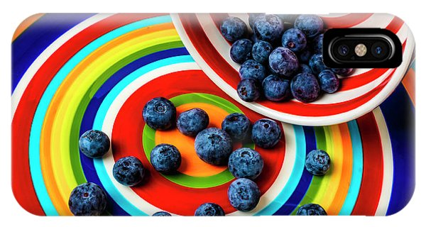 Blue Berry iPhone Case - Bowl Spilling Blueberries by Garry Gay