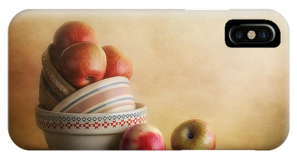 Tan iPhone Case - Bowls And Apples Still Life by Tom Mc Nemar