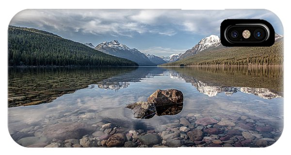 Bowman Lake Rocks IPhone Case