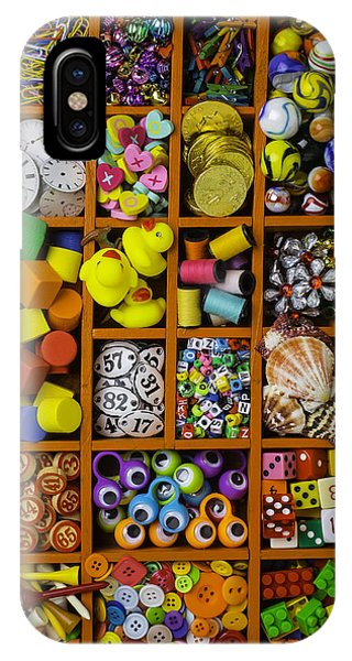 Box Full Of Colorful Objects IPhone Case