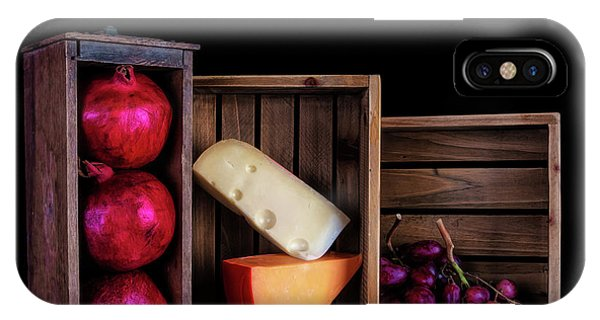 Swiss iPhone Case - Boxed Cheeses And Fruits by Tom Mc Nemar