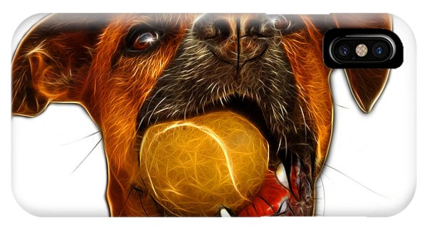 IPhone Case featuring the digital art Boxer Mix Dog Art - 8173 - Wb by James Ahn