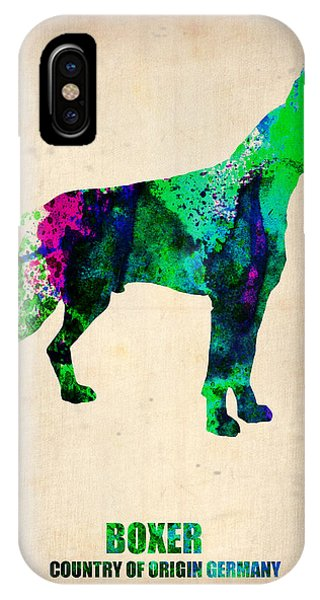 Boxer Poster IPhone Case