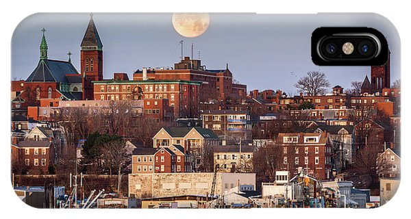 Boxing Day Moon Over Portland Maine  IPhone Case