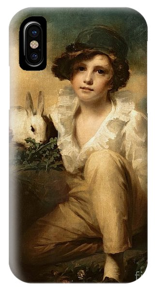 Lettuce iPhone Case - Boy And Rabbit by Sir Henry Raeburn