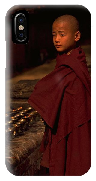 Boy Buddhist In Bodh Gaya IPhone Case