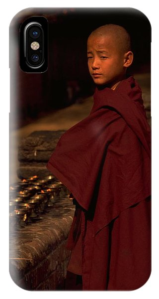 Boy Buddhist In Bodh Gaya IPhone Case