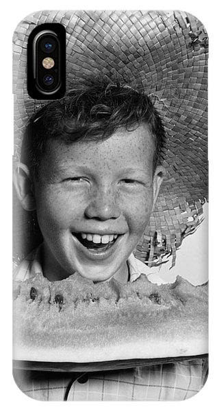 Boy Eating Watermelon, C.1940-50s IPhone Case