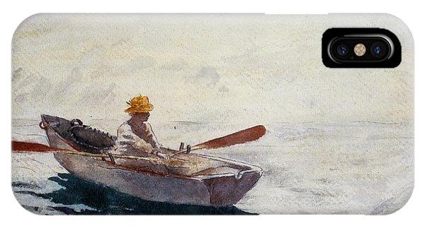Boy In A Boat IPhone Case
