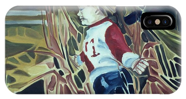Boy In Grassy Field IPhone Case