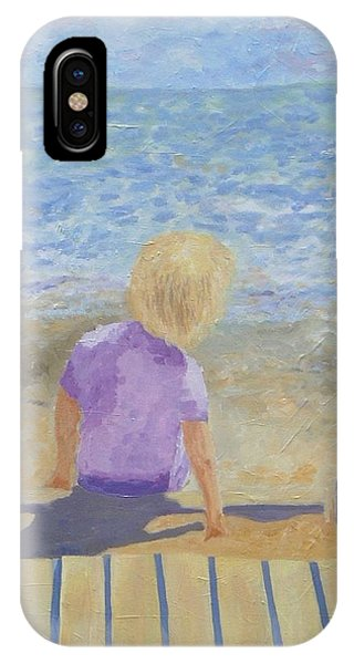 Boy Lost In Thought IPhone Case