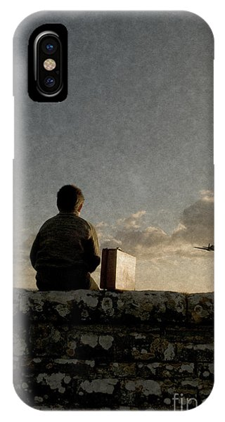 Boy On Wall IPhone Case