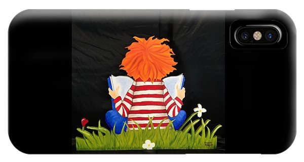 Boy Reading Book IPhone Case