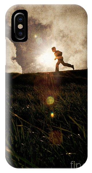 Boy Running IPhone Case