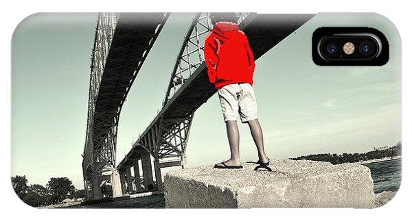 Boy Under Bridge IPhone Case