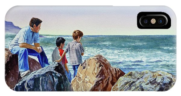 Boys And The Ocean IPhone Case