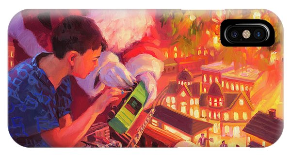 Track iPhone Case - Boys And Their Trains by Steve Henderson