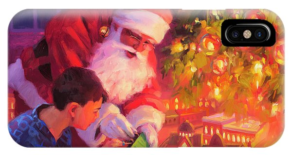 Santa Claus iPhone Case - Boys And Their Trains by Steve Henderson