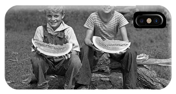 Boys Eating Watermelons, C.1940s IPhone Case