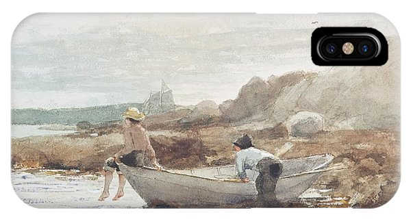 Boats iPhone Case - Boys On The Beach by Winslow Homer