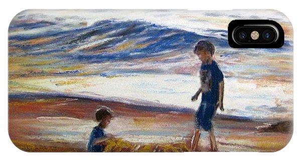 Boys Playing At The Beach IPhone Case