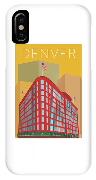 Denver Brown Palace/gold IPhone Case