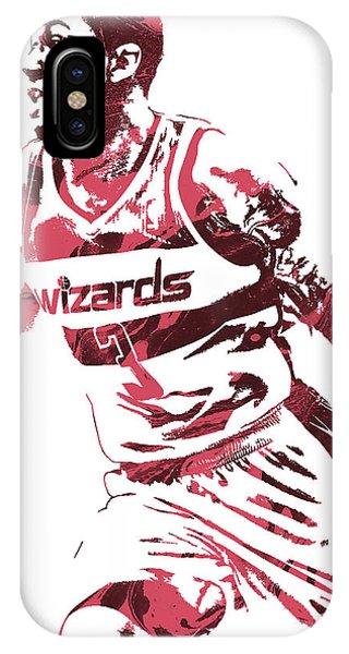 Tickets iPhone Case - Bradley Beal Washington Wizards Pixel Art 3 by Joe Hamilton