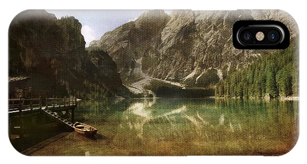 Braies Lake IPhone Case