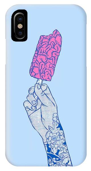 Ice Cream iPhone Case - Brain Ice Cream Mmmmm by Evgenia Chuvardina