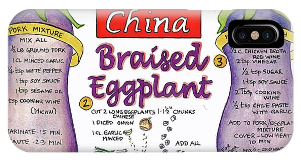 Braised Eggplant IPhone Case