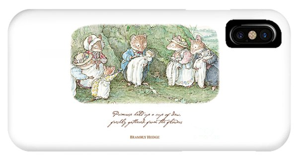 Coloured Pencil iPhone Case - Brambly Hedge Naming Ceremony by Brambly Hedge