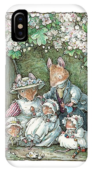 Coloured Pencil iPhone Case - Brambly Hedge - Poppy Dusty And Babies by Brambly Hedge