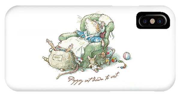 Coloured Pencil iPhone Case - Brambly Hedge - Poppy Sat Down To Rest by Brambly Hedge