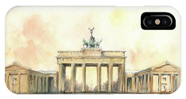 Berlin iPhone Case - Brandenburger Tor, Berlin by Juan Bosco