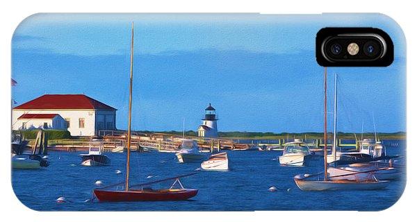 Lighthouse Wall Decor iPhone Case - Brant Point Lighthouse by Kim Hojnacki