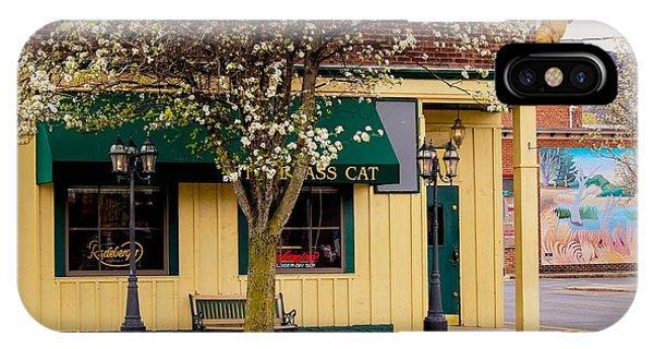 Brass Cat Pub Easthampton IPhone Case