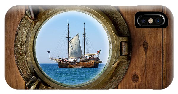 Nautical iPhone Case - Brass Porthole by Carlos Caetano