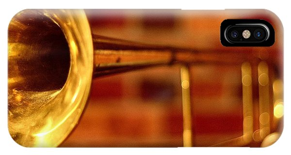 Trombone iPhone Case - Brass Trombone by David  Hubbs