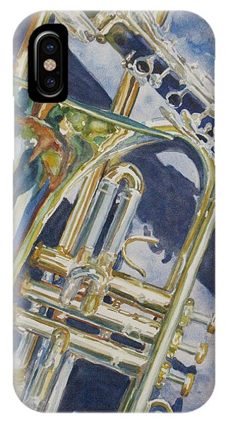 Trombone iPhone Case - Brass Winds And Shadow by Jenny Armitage