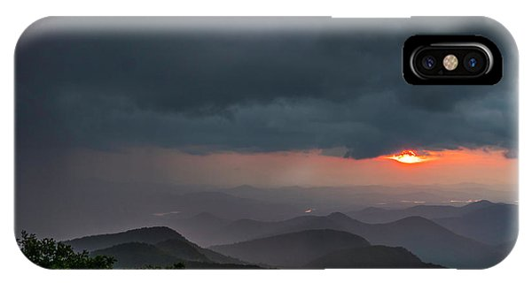 IPhone Case featuring the photograph Brasstown Bald Sunset by Michael Sussman