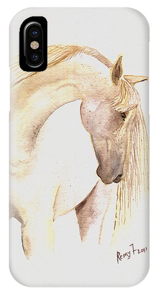 White Horse From The Wild Phone Case by Remy Francis