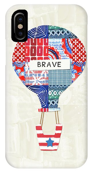 Brave Balloon- Art By Linda Woods IPhone Case