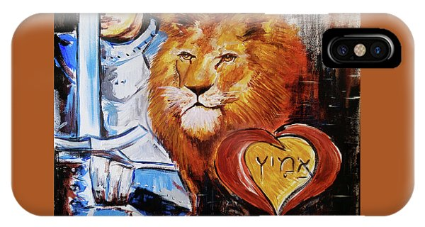 IPhone Case featuring the painting Brave Heart by Jennifer Page