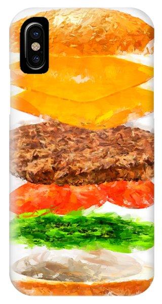 Brazilian Salad Cheeseburger IPhone Case