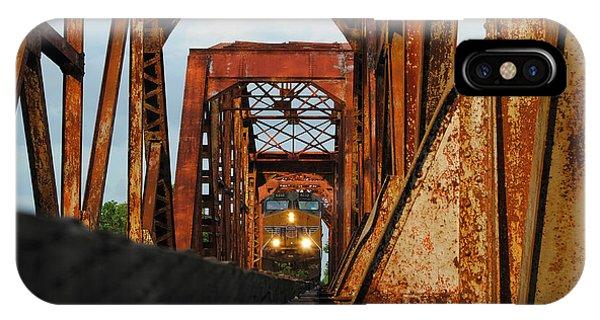Brazos River Railroad Bridge IPhone Case