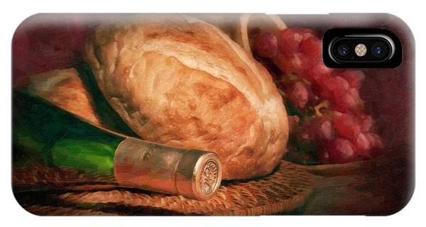 Vino iPhone Case - Bread And Wine by Tom Mc Nemar