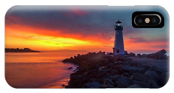 Break Of Day At Walton Lighthouse IPhone Case