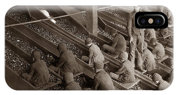 Breaker Boys Lehigh Valley Coal Co Maltby Pa Near Swoyersville Pa Early 1900s IPhone Case