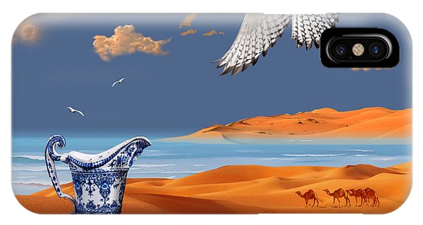 IPhone Case featuring the digital art Breakfast With White Falcon by Alexa Szlavics